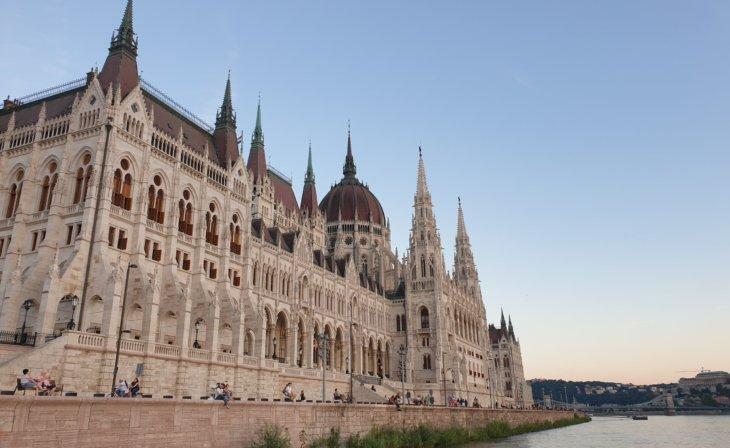 Parlement Hongrois Budapest - depuis le Danube