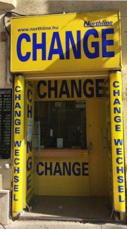 Bureau de change à Budapest