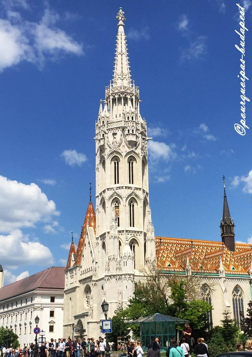 L'église Matthias au château à Budapest