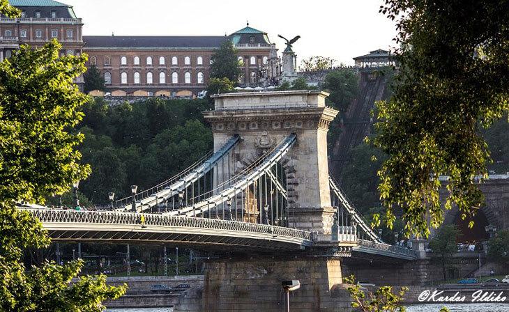 Le pont des chaînes à Budapest