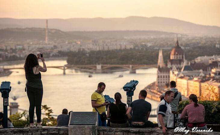 Vue panoramique depuis la citadelle de Budapest