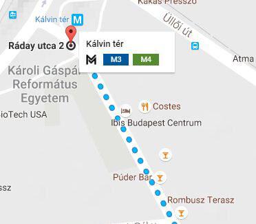 Maps bars ruines Raday Budapest
