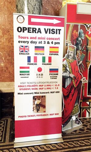 Visite de l'Opéra de Budapest