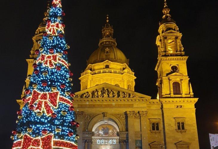 Basilique à Noël à Budapest