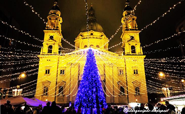 Marché de Noël Basilique à Budapest