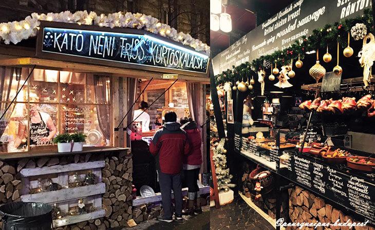 Marché de Noël Vörösmarty à Budapest