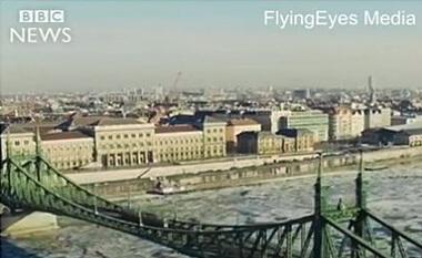 Budapest Danube ice