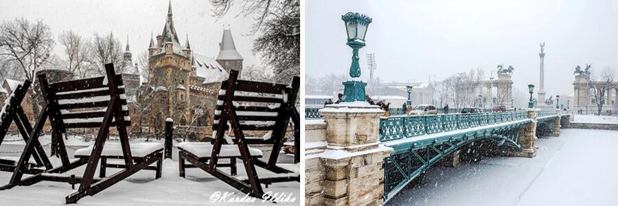 Photos de Budapest en hiver