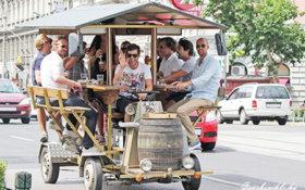 Vélo à bière Budapest visite