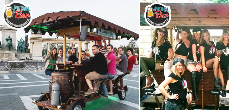 Visiter Budapest en beerbike