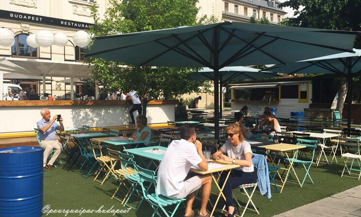 Bars en plein air à Budapest Kioszk Terasz