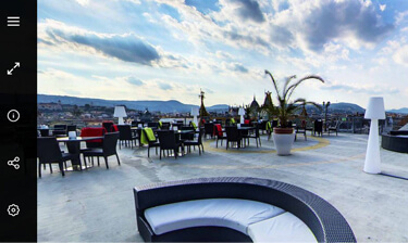 Budapest rooftop Hotel President