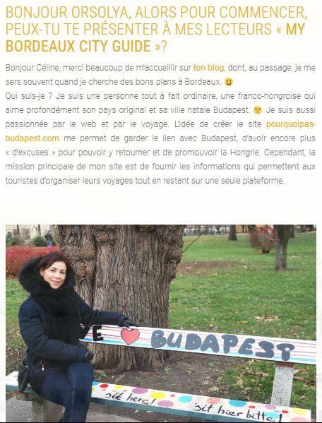 Article sur My Bordeaux City Guide