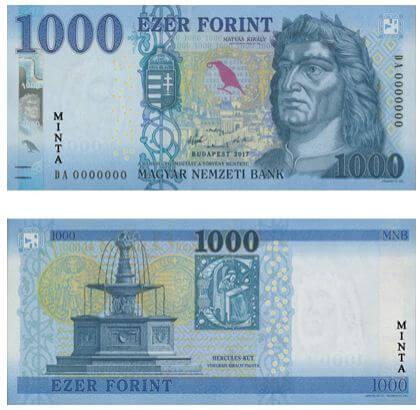 Nouveaux billets de 1000 forint Hongrie