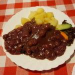 Marha meggymàrtàssal - Restaurant Pozsonyi Kisvendéglö