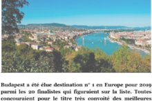 Meilleures destinations Européennes 2019 Forbes