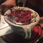 Rengeteg Romkafé Budapest - chocolat chaud aux framboises